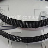 12мм Регилин корсетный черный 40м