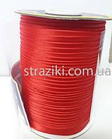 1,5см косая-бейка красная 1боб (Окантовочная атласная бейка)