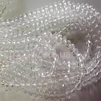 10мм рондели crystal_AB 65-69шт/низке (Хрустальные рондели)