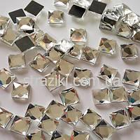 6мм Сrystal квадрат термоклеевой 100шт (Термокамни квадрат)