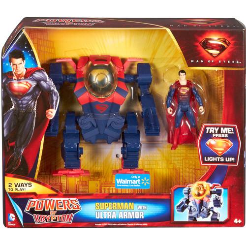 Супермен с бронированным костюмом - Superman, Ultra Armor, Mattel, Walmart