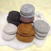 Пряжа пухкая (ровница) из овечьей шерсти