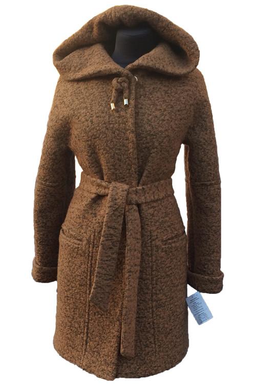 Пальто женское утепленное Almatti модель O-248-16 бежевое
