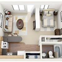 Дизайн интерьера квартиры смарт (студии)