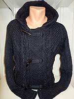 Кофта мужская Lee'Ecosse на пуговицах + змейка, 2 кармана с капюшоном, 002/ купить оптом свитер зимний