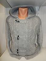 Кофта мужская Lee'Ecosse на пуговицах + змейка, 2 кармана с капюшоном, 003/ купить оптом свитер зимний