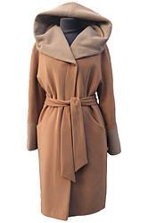 Женское утепленное пальто Almatti модель VO-73 бежевое