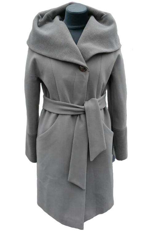 Женское утепленное пальто Almatti модель VO-73 серое