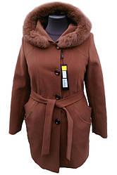 Пальто женское зимнее Almatti модель З-218 терракот