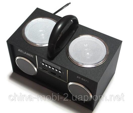 Акустичка Atlanfa AT-8973 MP3 SD USB FM , black, фото 2