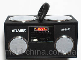 Акустичка Atlanfa AT-8973 MP3 SD USB FM , black, фото 3