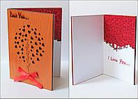 """Необычные открытки ручной работы  """"Люблю тебя"""" сувенир для любимой девушки"""