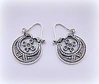 Лунница серебряные серьги , фото 1