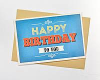 Открытка happy birthday оптом
