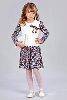 Платье с помпонами для девочки