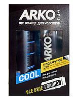 Косметический набор Arko Men Cool (Охлаждающий) (пена для бритья+гель для душа)