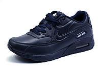 Кроссовки кожаные унисекс Найк Air Max, темно темно-синие, р. 37 38