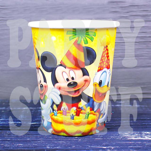 бумажные стаканчики Микки Маус
