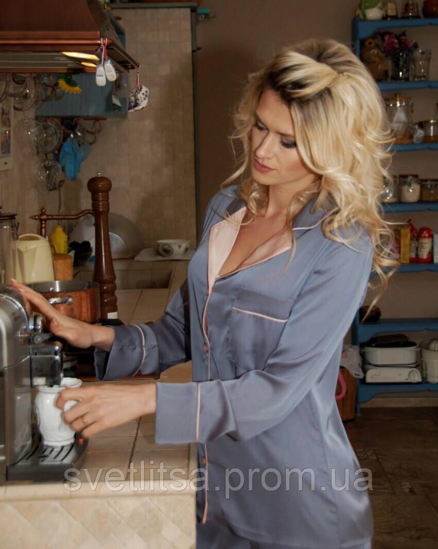 Пижама для девушки. Хит продаж! Серая с нежно розовым  продажа e754b642d14f5