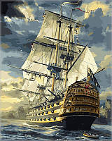 Картина по номерам Turbo Военный фрегат худ. Терон Сарел VP181