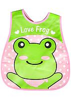 "Слюнявчик с карманом ""Love frog"""