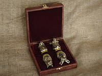 Чарки из бронзы 4 шт в кейсе, фото 1