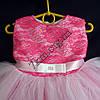 """Платье нарядное бальное детское 1-2 года """"Малявка"""" ярко розовый +белый Украина оптом, фото 2"""