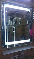 Зеркало 500*600 мм со светодиодной подсветкой и полкой, индивидуальный размер
