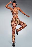Спортивные леггинсы для фитнеса Cool Bas Bleu с тигровым принтом S, M, L