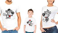 """Комплект футболок для всей семьи """"Семья мышек"""""""