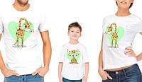 """Комплект футболок для всей семьи """"Семья жирафов"""""""