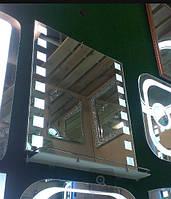 Зеркало 600*700 со светодиодной подсветкой и полкой, индивидуальный размер