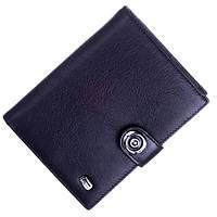 Кожаный мужской кошелек (портмоне) Balisa черного цвета, фото 1