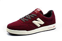 Кроссовки New Balance мужские, замша, бордовые, фото 1