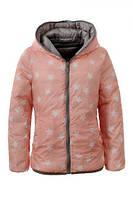 Куртки двухсторонние для девочек оптом, Glo-Story, 134/140-170 рр., арт.GMA-3375