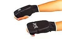 Накладки (перчатки) для карате Х-б+эластан ZELART (р-р S-XL, черный)