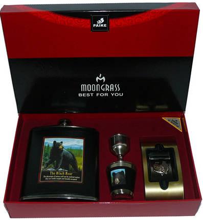 "Подарочный набор с флягой для мужчин DJH-2075 ""The Black Bear"", фото 2"