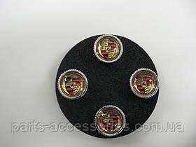 Porsche Cayenne 955 957 958 2002-17 колпачки на ниппеля дисков красные Новые Оригинал