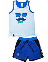 Комплект для мальчика (майка+шорты):цвет -Голубой,размер-98 см,3 года