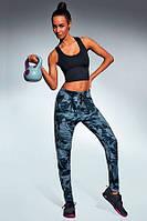 Яркие спортивные леггинсы Yank Bas Bleu голубой камуфляж S, M, L, XL