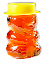 Мед разнотравье в стеклянной банке в виде Мишки, 415 г