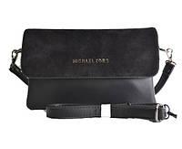 Брендовая сумка   черный замш маленького размера