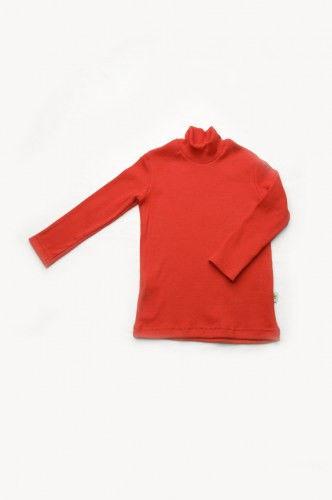 Гольф красного цвета для девочки