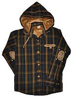 Рубашка подростковая для мальчиков, Фланэль (подкладка искуственный мех) размеры 13-16 лет