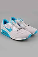 Кроссовки Nike Air Max 90 Em серые с белой подошвой. Спортивная обувь. Обувь для спорта. Кроссовки Nike