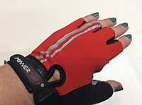 Перчатки женские для фитнеса серо/красные (Польша)  размер S, М, фото 1