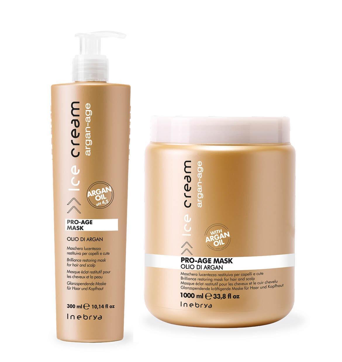 Inebrya Argan Oil Pro Age Маска с аргановым маслом для окрашенных волос 1000 мл.