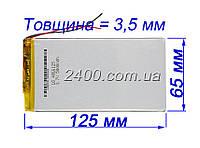 Аккумулятор 5000мАч 3565125 мм 3,7в для планшетов Cube, ImPAD, Fly, Nomi универсальный 5000mAh 3.7v 3.5*65*125