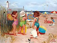 Раскраска по номерам MG1023 Пляжницы 40х50, фото 1