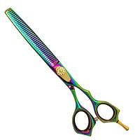 Ножницы для груминга Swordex 8990 5880 RC Pet Line 8 филировочные радужные